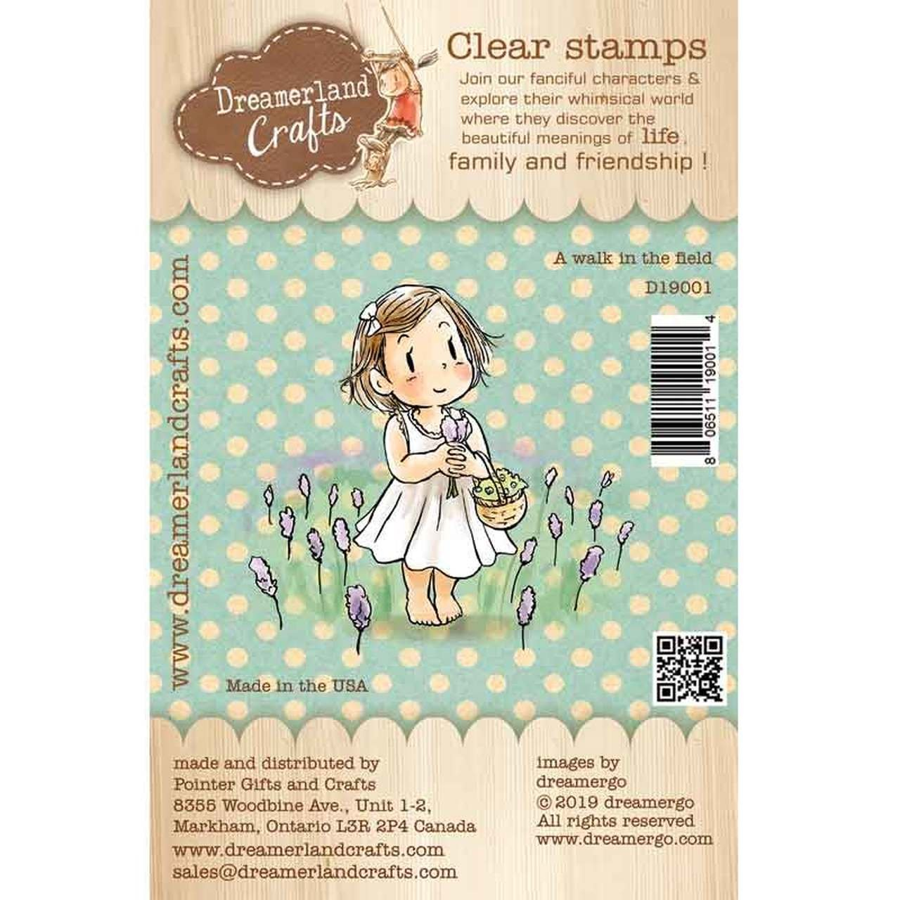 Dreamerland Crafts - A Walk in the Field Stamp