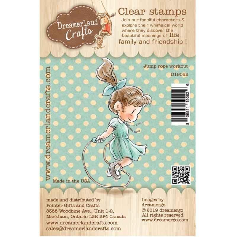 Dreamerland Crafts - Jump Rope Workout Stamp