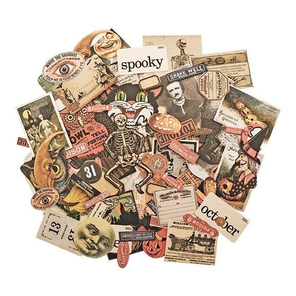 Tim Holtz Idea-ology - Ephemera Pack Halloween (82/pkg)