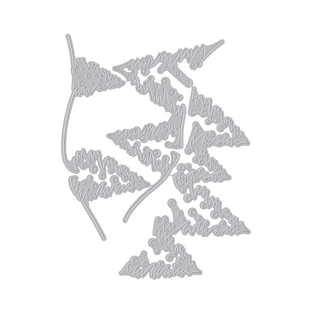 Hero Arts -Tri-Fold Edge Winter Pine Dies