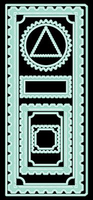 LDRS Creative - Diagonal Stitched Postage Frames Slimline Dies