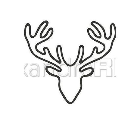 Alexandra Renke - Deer Head Outline Die