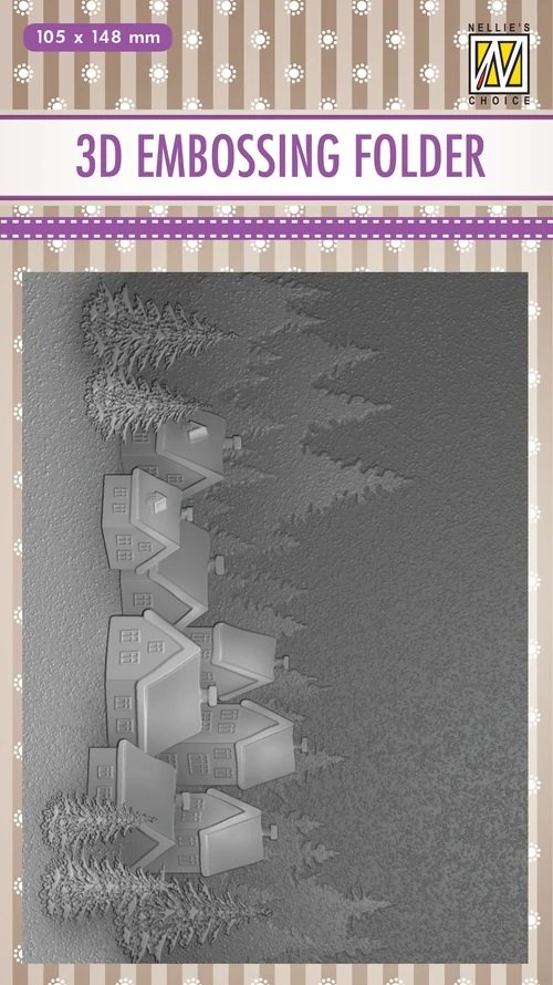 Nellie's Choice - Snowy Village Embossing Folder