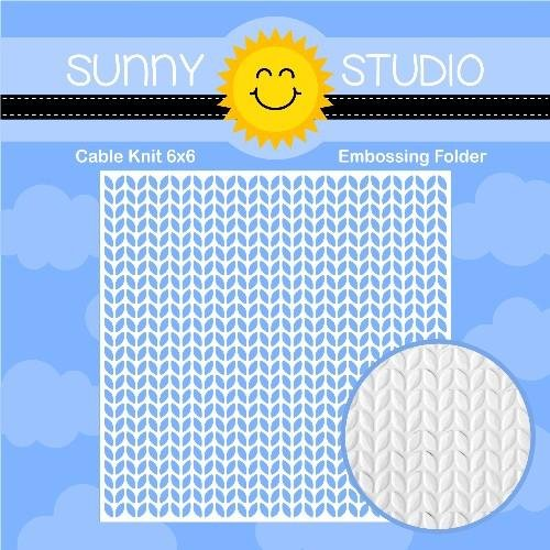Sunny Studio - Cable Knit 6x6 Embossing Folder