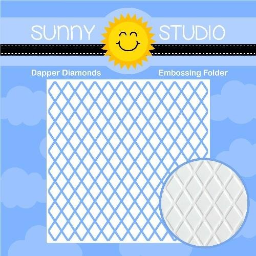 Sunny Studio - Dapper Diamonds 6x6 Embossing Folder