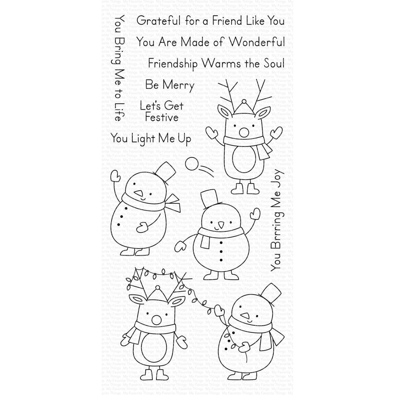 MFT - Festive Friends Stamp Set