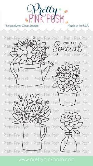 Pretty Pink Posh - Flower Bouquets Stamp/Die Set