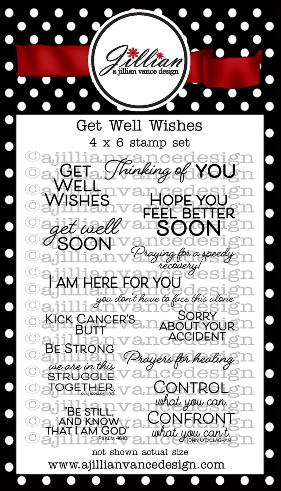 Jillian Vance - Get Well Wishes Stamp Set