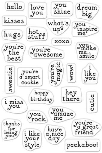 Hero Arts - Greetings Mini Messages Stamp Set