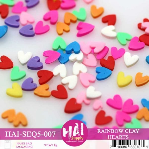 HAI Confetti - Rainbow Clay Hearts
