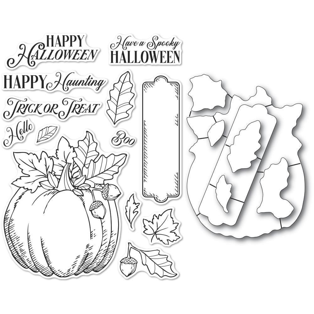 Memory Box - Halloween Pumpkin Stamp/Die Set