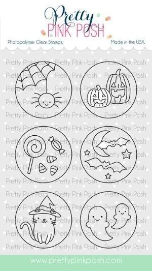 Pretty Pink Posh - Halloween Circles Stamp Set