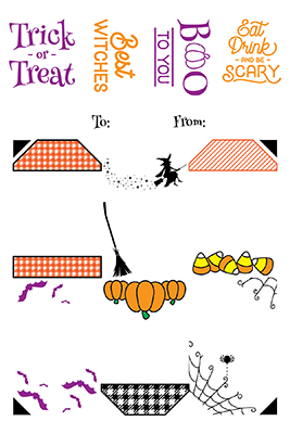 LDRS Creative - Halloween 4x6 Gift Tag Stack Stamp