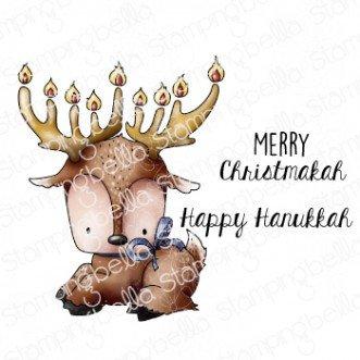 Stamping Bella - Hanukkah Deer Cling Stamp