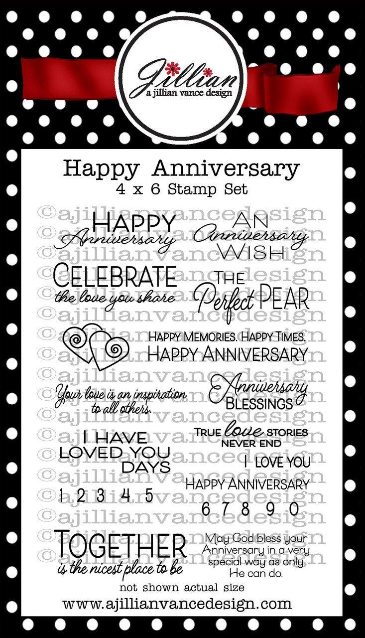 Jillian Vance - Happy Anniversary Stamp Set