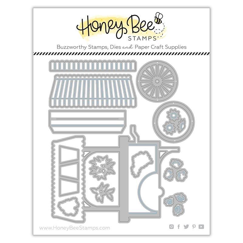 Honey Bee Stamps - Market Cart Builder Die Set