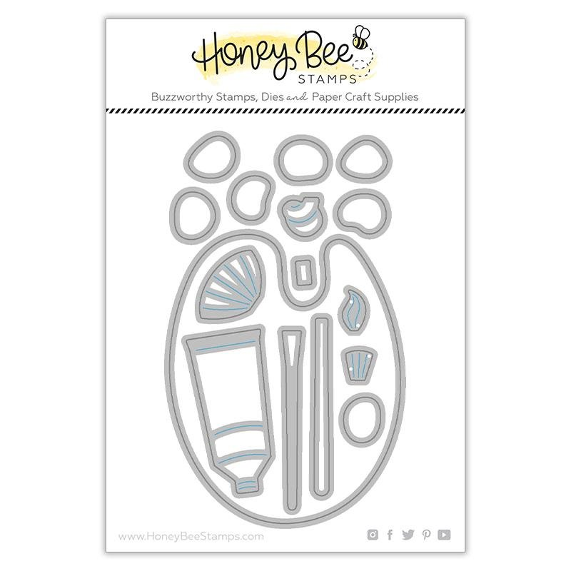 Honey Bee Stamps - Paint and Palette Die Set