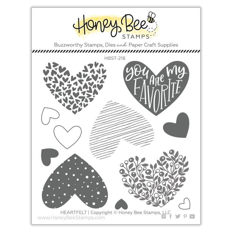 Honey Bee Stamps - Heartfelt Stamp Set