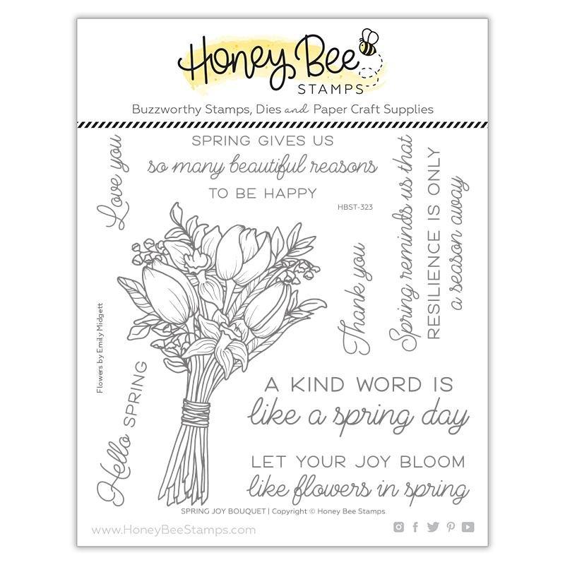 Honey Bee Stamps - Spring Joy Bouquet Stamp Set