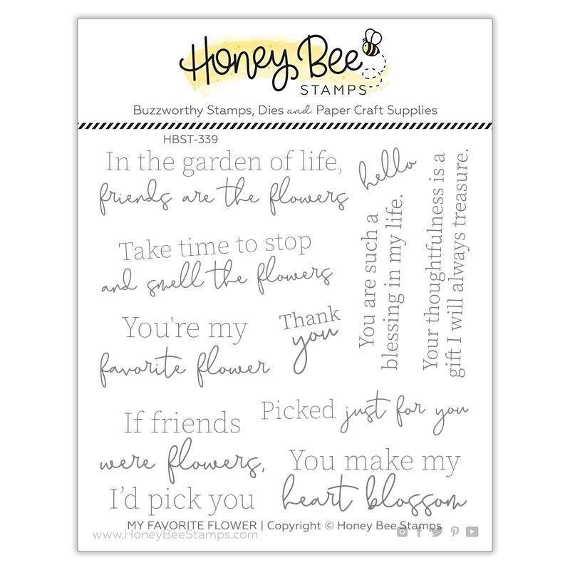 Honey Bee Stamps - My Favorite Flower Stamp Set