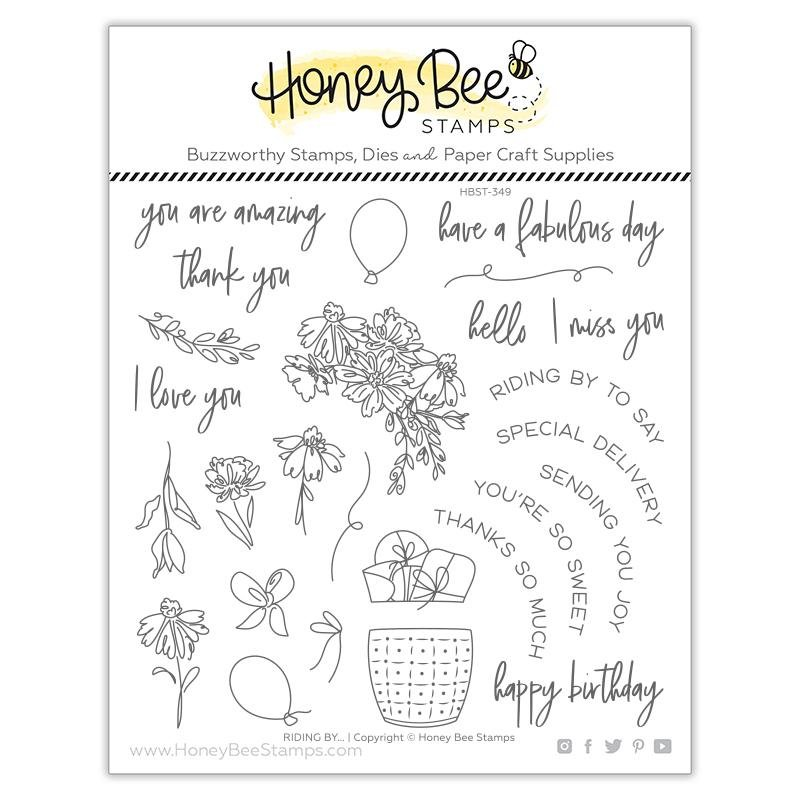 Honey Bee Stamps - Riding By Stamp Set