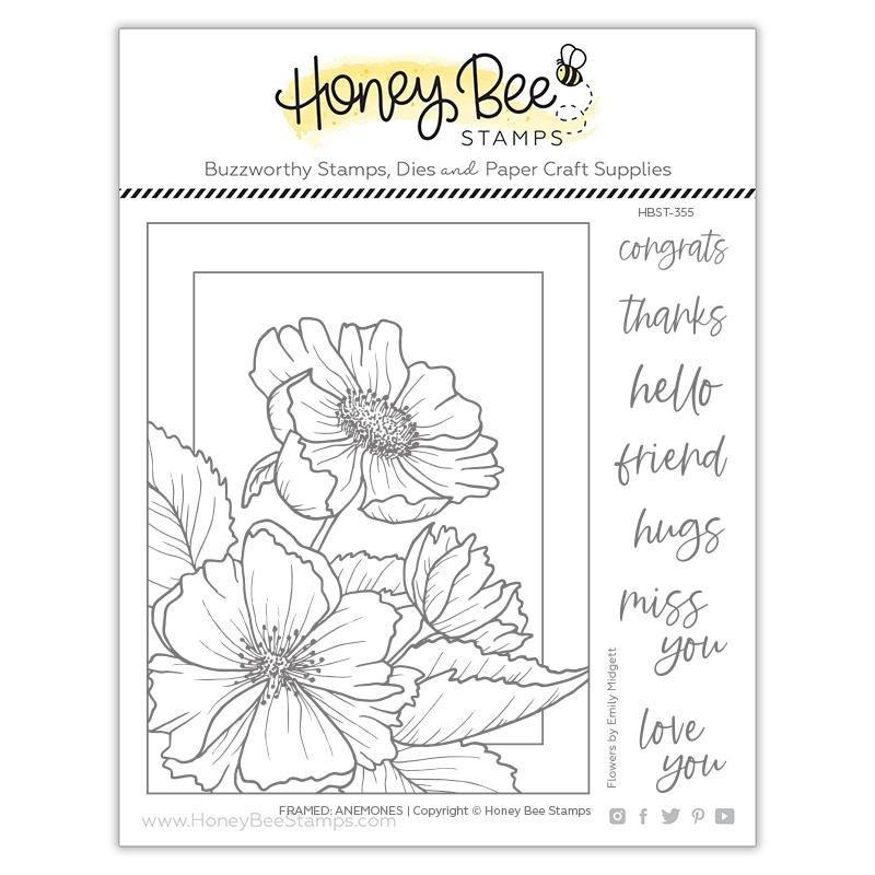 Honey Bee Stamps - Framed: Anemones Stamp Set
