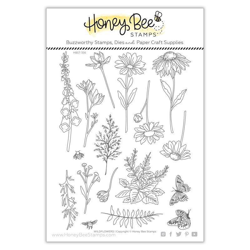Honey Bee Stamps - Wildflowers Stamp Set