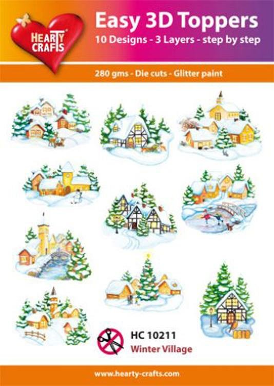 Hearty Crafts Easy 3D Toppers - Winter Village