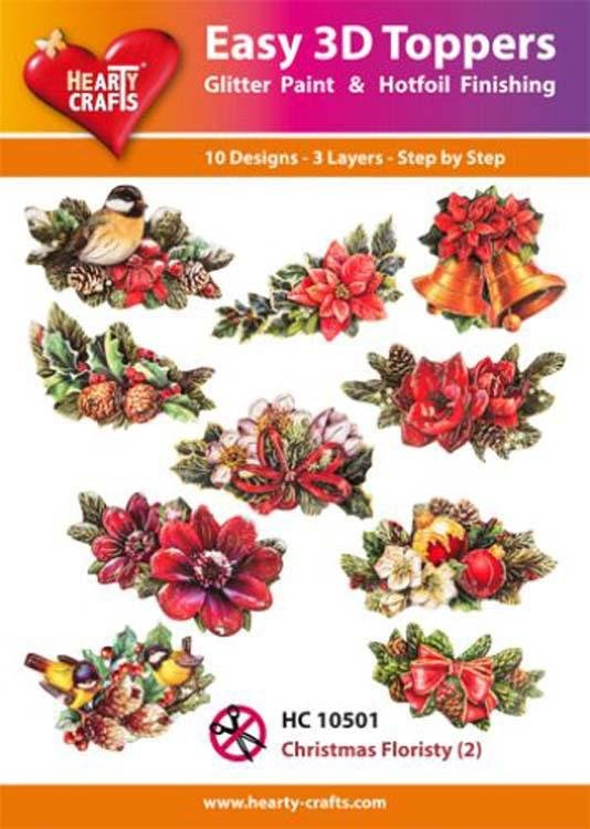 Hearty Crafts Easy 3D Toppers - Christmas Floristry (2)