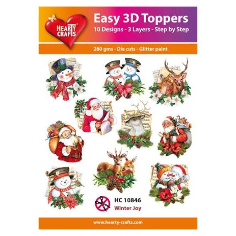 Hearty Crafts Easy 3D Toppers - Winter Joy