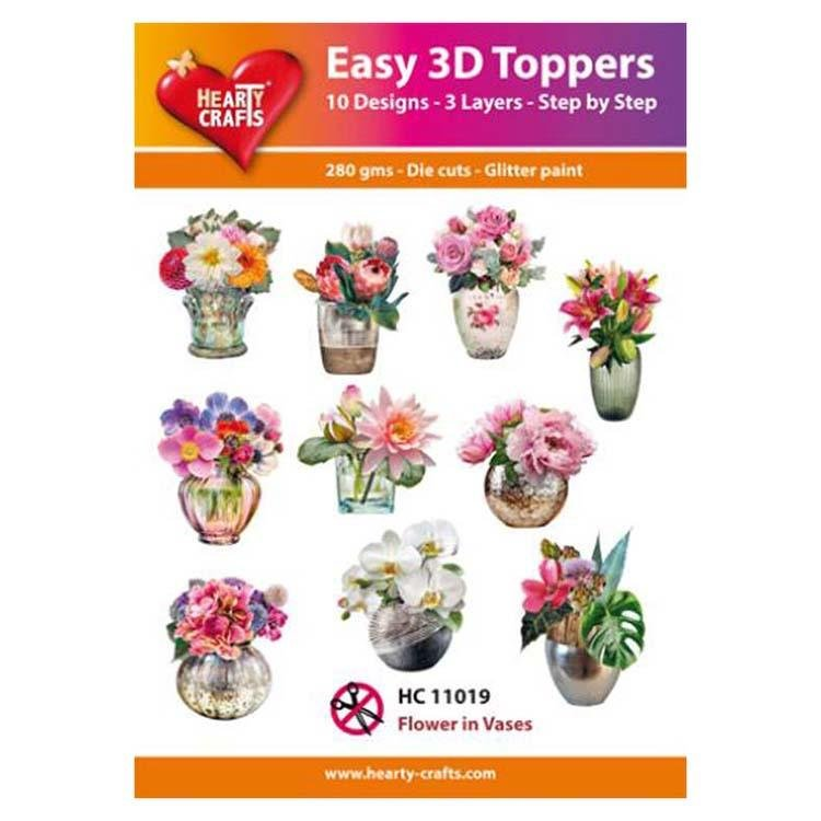 Hearty Crafts Easy 3D Toppers - Flowers in Vase