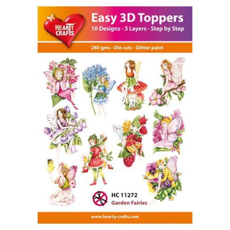 Hearty Crafts Easy 3D Toppers - Garden Fairies