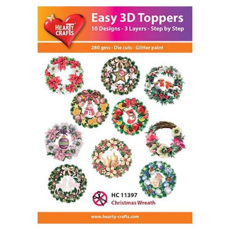 Hearty Crafts Easy 3D Toppers - Christmas Wreath