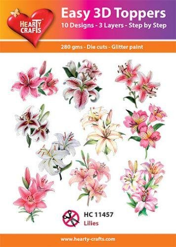 Hearty Crafts Easy 3D Toppers - Lilies