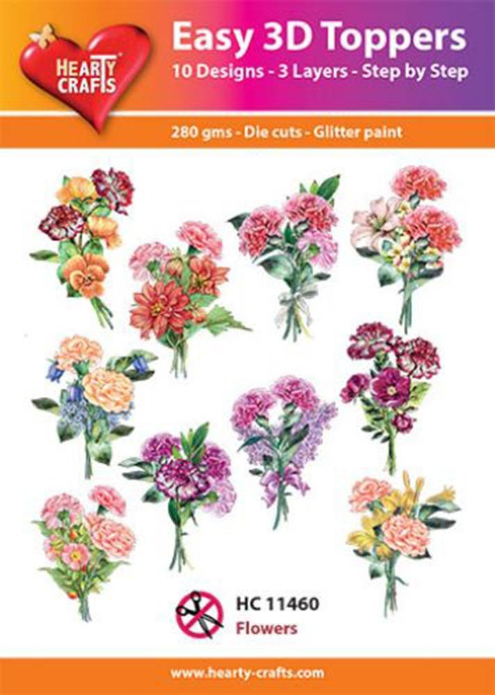 Hearty Crafts Easy 3D Toppers - Flowers