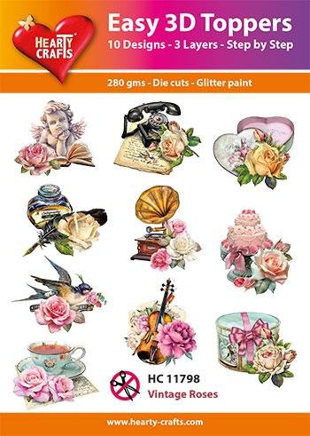 Hearty Crafts Easy 3D Toppers - Vintage Roses