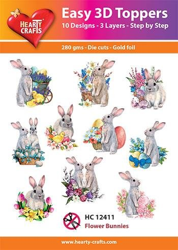Hearty Crafts Easy 3D Toppers - Flower Bunnies
