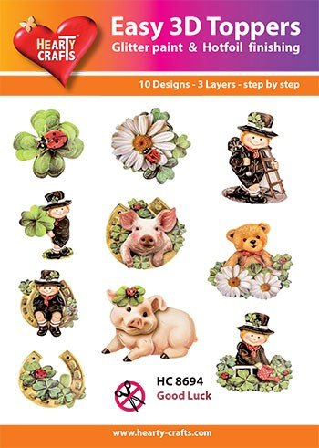 Hearty Crafts - Easy 3D Toppers: Good Luck