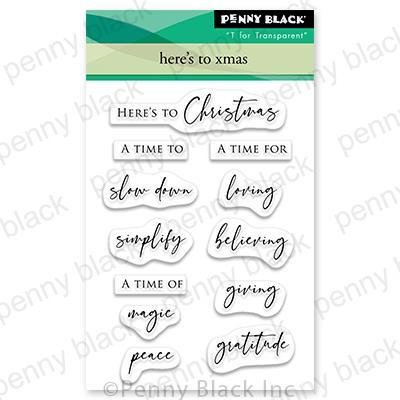 Penny Black - Here's To Christmas Stamp Set