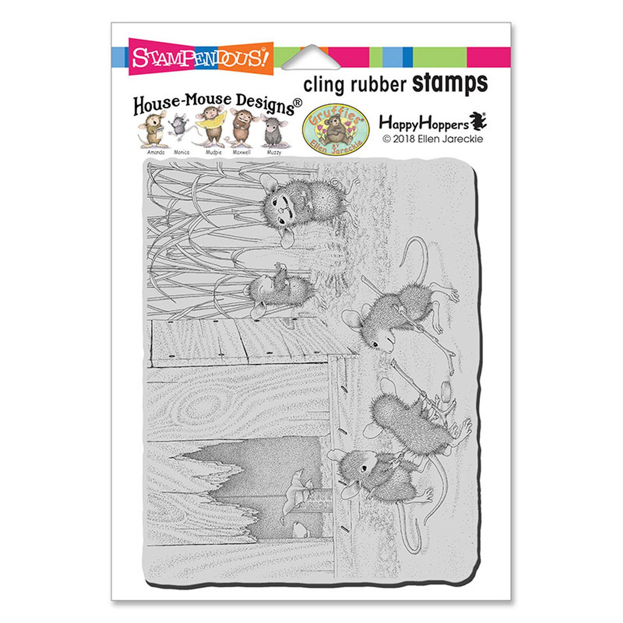 Stampendous House Mouse Cling Stamp-Little Drummers