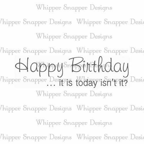 Whipper Snapper - Happy Birthday ...it is today Stamp