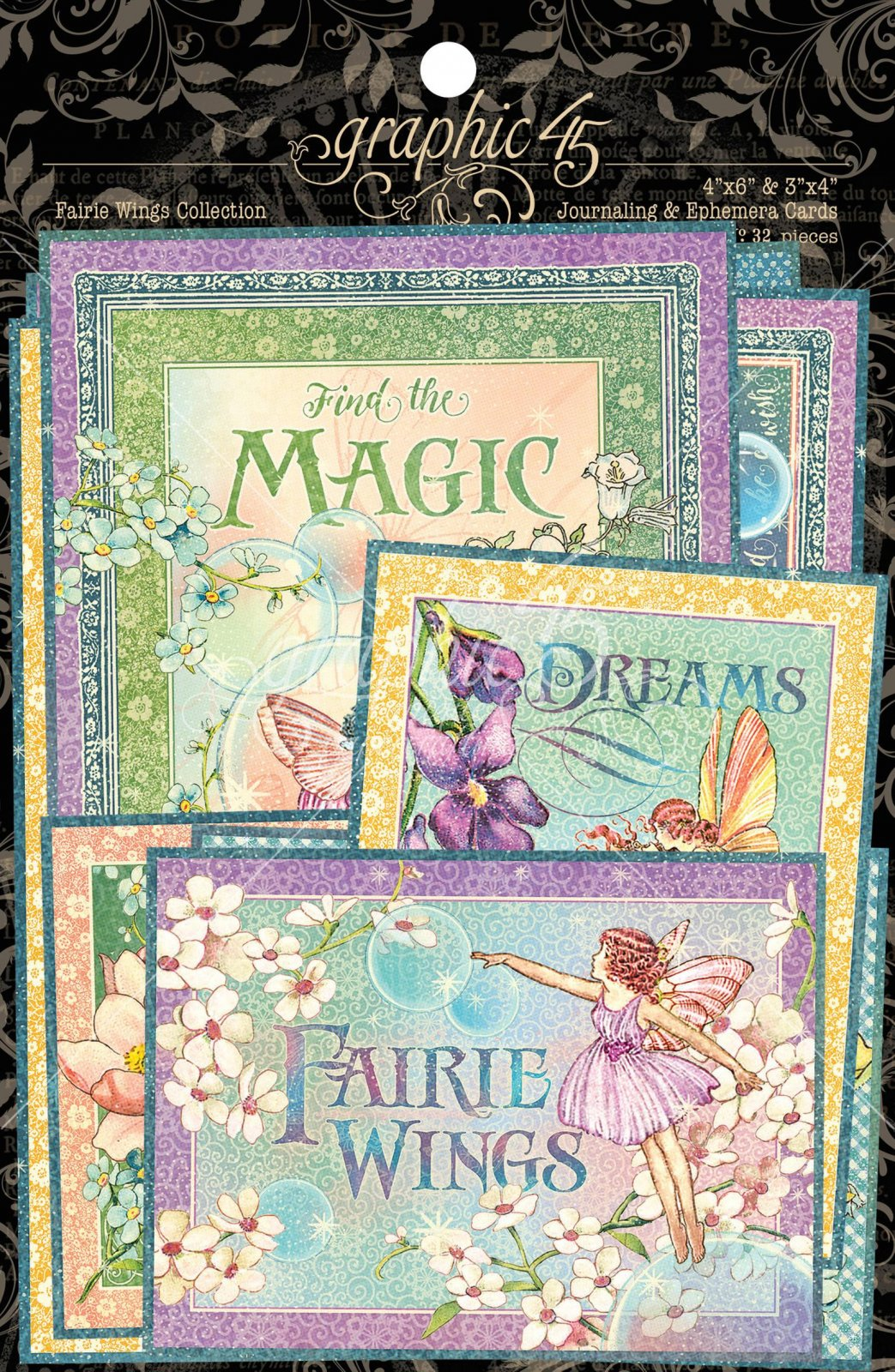 Graphic 45 - Fairie Wings Ephemera & Journaling Cards