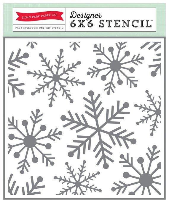 Echo Park - Snowflakes Stencil