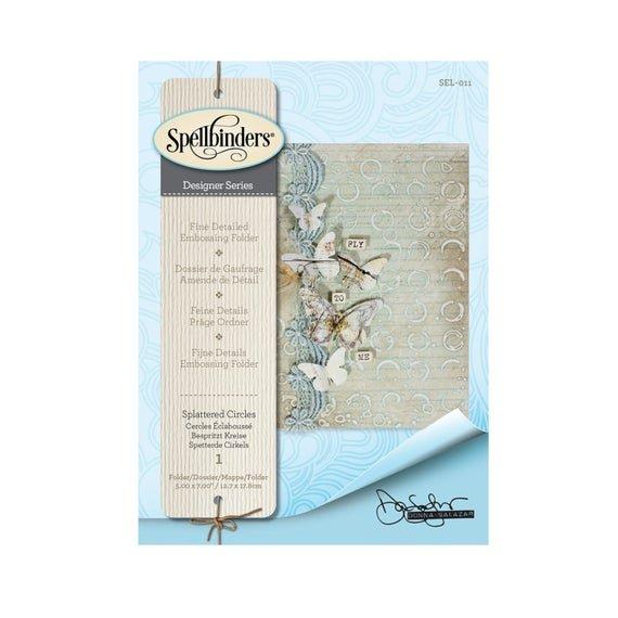 Spellbinders - Splattered Circles Embossing Folder