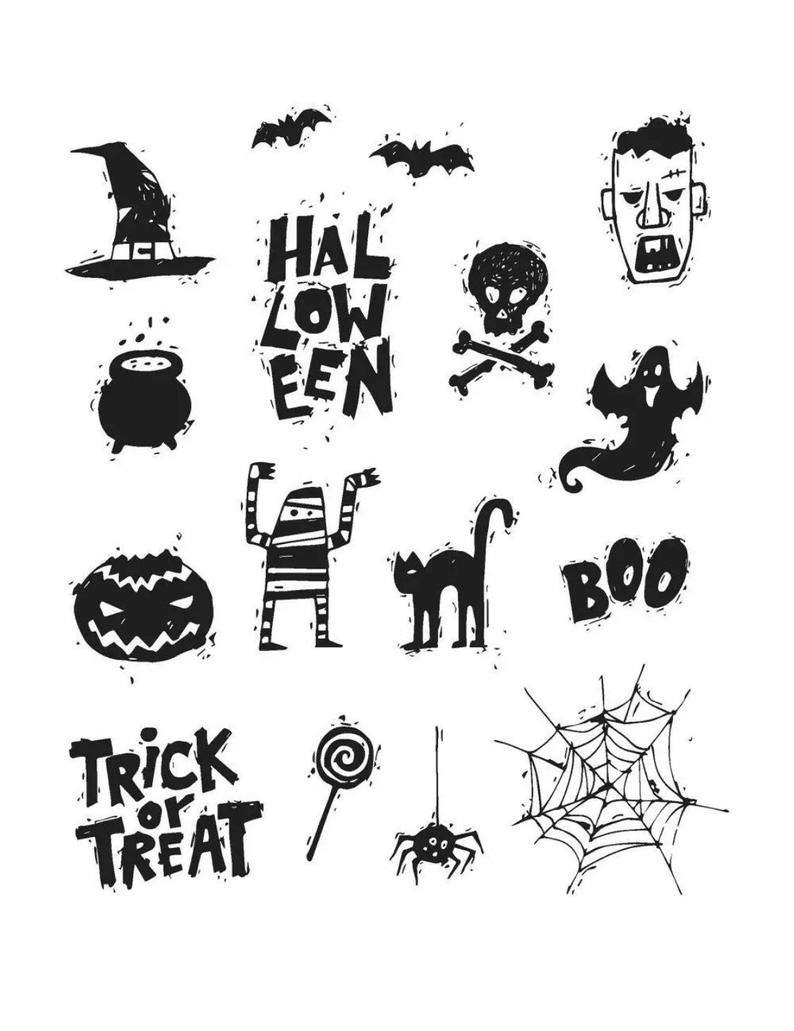 Stampers Anonymous - Tim Holtz Spooky Scribbles Stamp Set