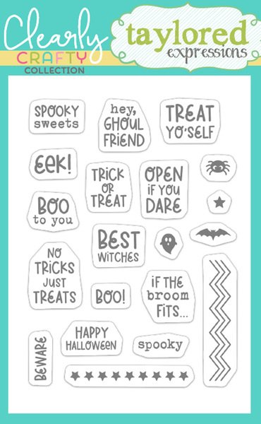 Taylored Expressions - Itty Bitty Sentiments: Halloween Stamp Set