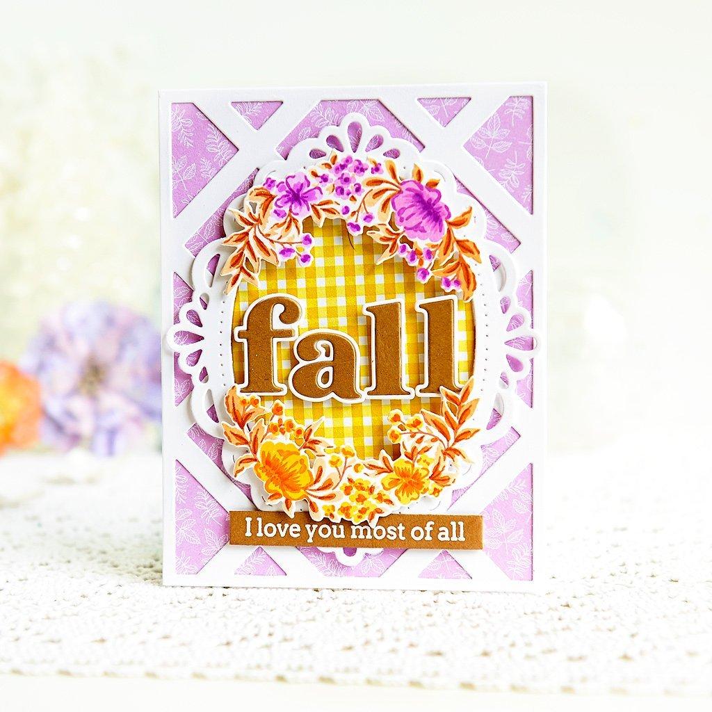 Pinkfresh Studio - Charming Floral Wreath Stamp - 736952867919