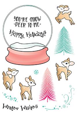 LDRS - Snow Deer To Me Stamp/Die Set