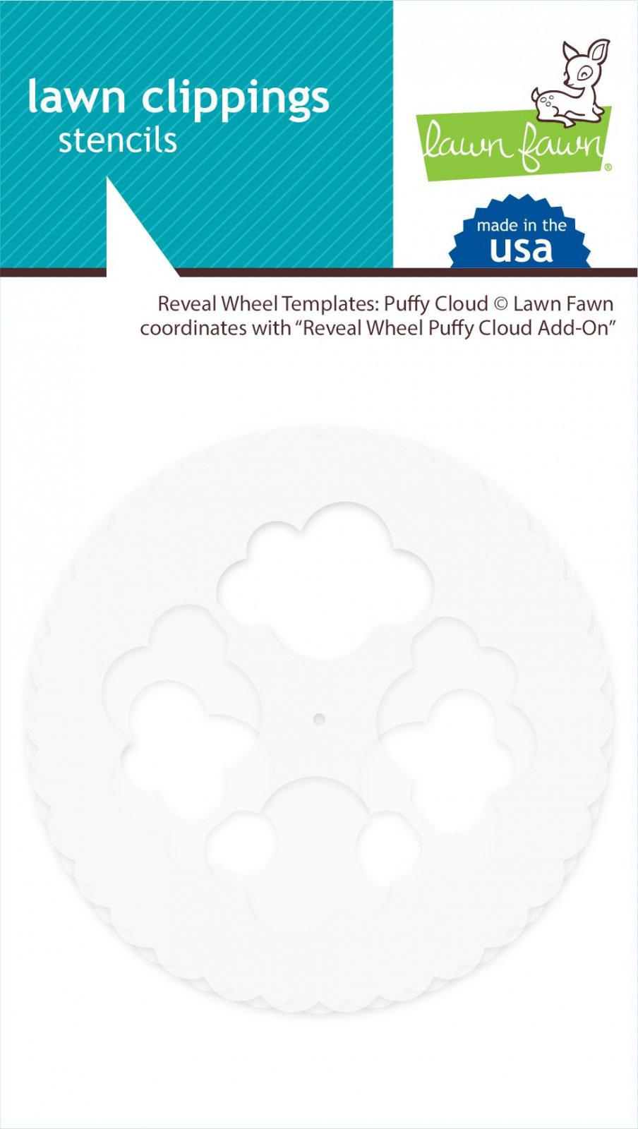 Lawn Fawn - Puffy Cloud Reveal Wheel Template
