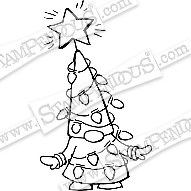 Stampendous - Gnome Lights Cling Stamp